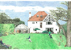 Coloured Pencil Drawing House