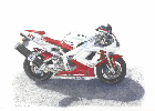 Coloured Pencil Drawing Motorbike