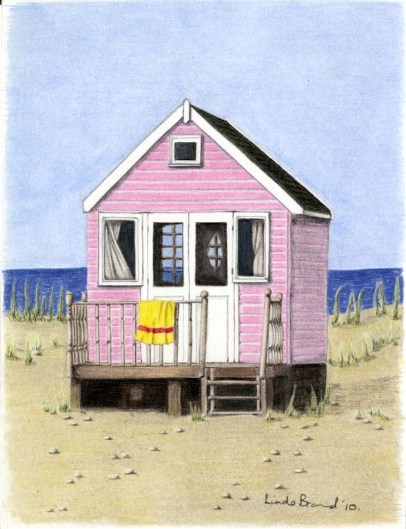 Huts Drawing